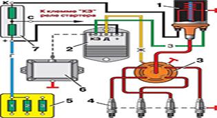 Бесконтактно-транзисторная система зажигания с магнитно-электрическим датчиком