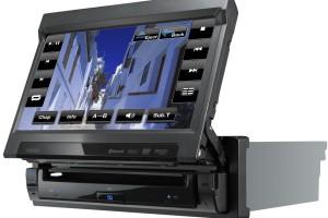 Автомагнитола 1 DIN с выдвижным экраном