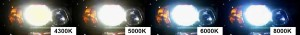 Температура свечения ксеноновых ламп. Температура свечения, это цвет свечения ламп, измеряется в Кельвинах.
