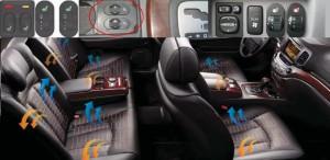 Возможные месте установки кнопок включения подогрева сидений